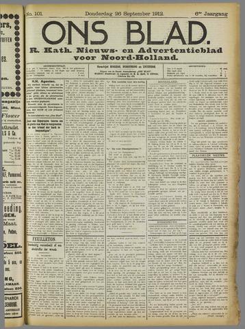 Ons Blad : katholiek nieuwsblad voor N-H 1912-09-26