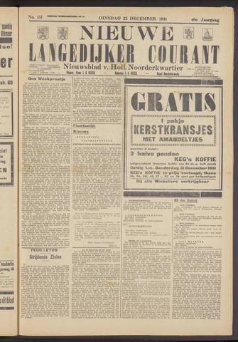 Nieuwe Langedijker Courant 1931-12-22