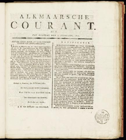Alkmaarsche Courant 1817-02-17