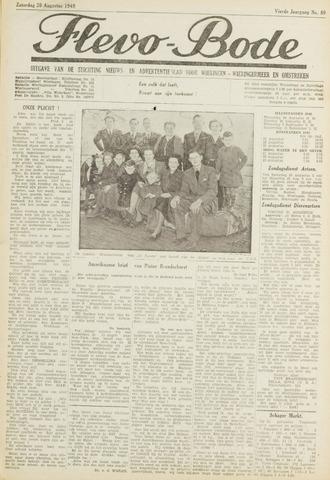 Flevo-bode: nieuwsblad voor Wieringen-Wieringermeer 1949-08-20