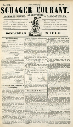 Schager Courant 1881-07-21