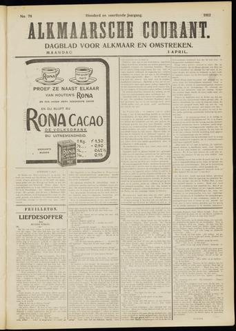 Alkmaarsche Courant 1912-04-01
