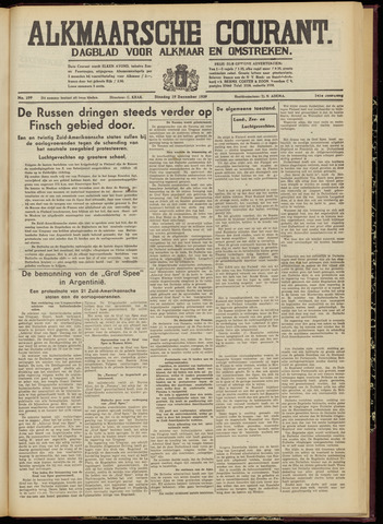 Alkmaarsche Courant 1939-12-19