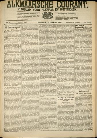 Alkmaarsche Courant 1930-01-11
