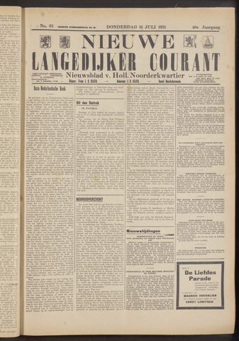 Nieuwe Langedijker Courant 1931-07-16