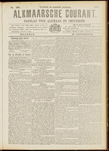 Alkmaarsche Courant 1907-09-30