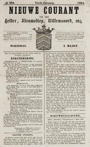 Nieuwe Courant van Den Helder 1864-03-02
