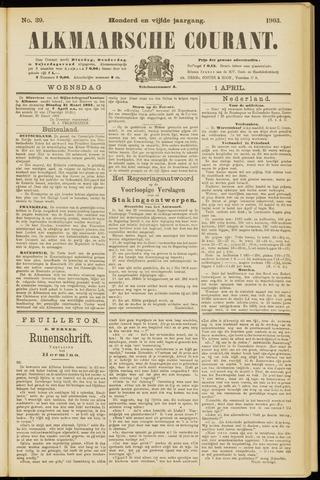 Alkmaarsche Courant 1903-04-01
