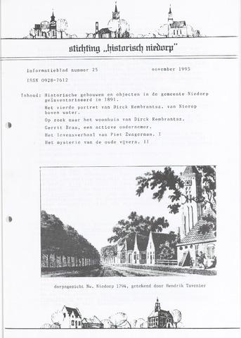 Informatieblad stichting Historisch Niedorp 1995-11-01