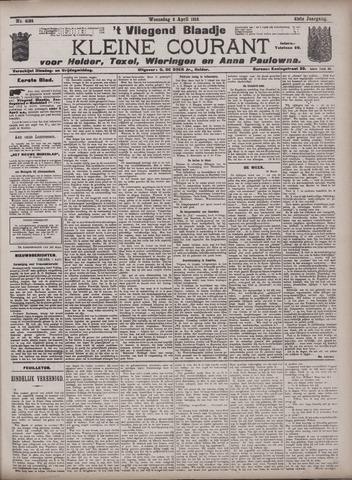 Vliegend blaadje : nieuws- en advertentiebode voor Den Helder 1913-04-02