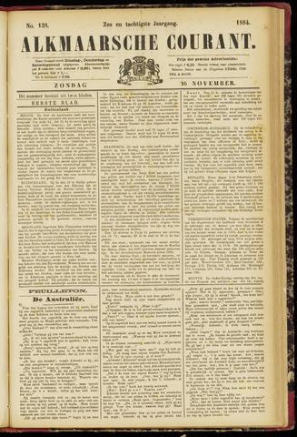 Alkmaarsche Courant 1884-11-16