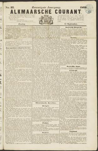 Alkmaarsche Courant 1868-09-13