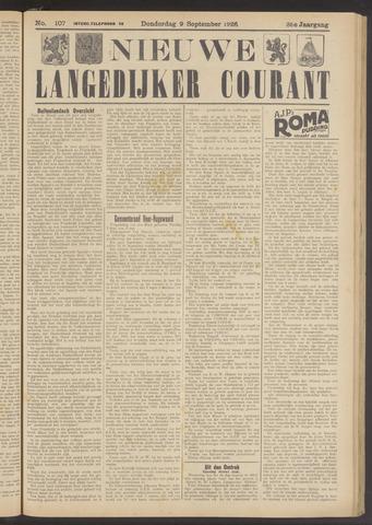 Nieuwe Langedijker Courant 1926-09-09