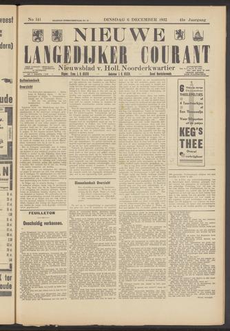 Nieuwe Langedijker Courant 1932-12-06