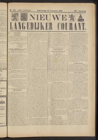 Nieuwe Langedijker Courant 1923-08-30