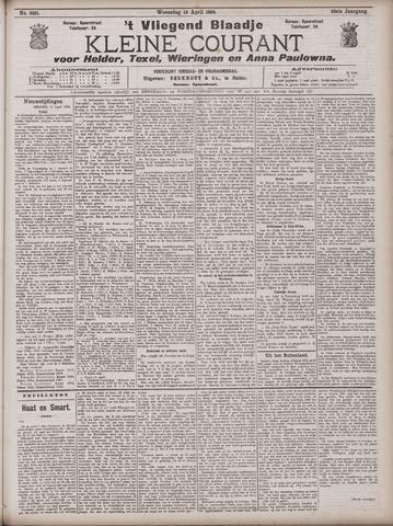 Vliegend blaadje : nieuws- en advertentiebode voor Den Helder 1904-04-13