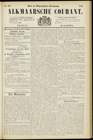 Alkmaarsche Courant 1891-08-30