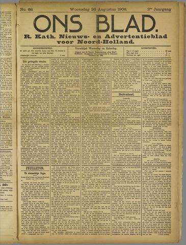 Ons Blad : katholiek nieuwsblad voor N-H 1908-08-26