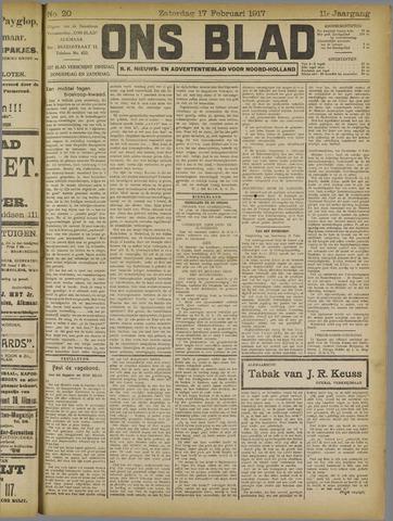 Ons Blad : katholiek nieuwsblad voor N-H 1917-02-17