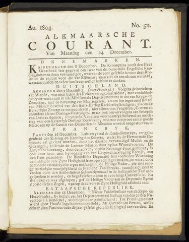 Alkmaarsche Courant 1804-12-24