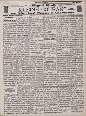 Vliegend blaadje : nieuws- en advertentiebode voor Den Helder 1912-10-19