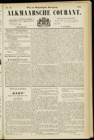 Alkmaarsche Courant 1892-04-08