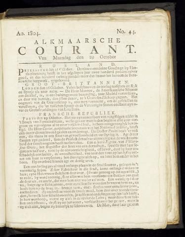 Alkmaarsche Courant 1804-10-29