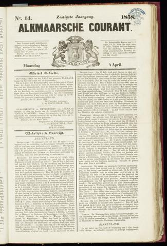 Alkmaarsche Courant 1858-04-05