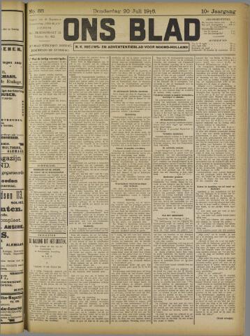 Ons Blad : katholiek nieuwsblad voor N-H 1916-07-20