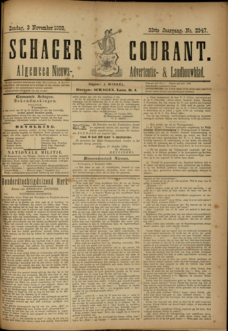 Schager Courant 1889-11-03