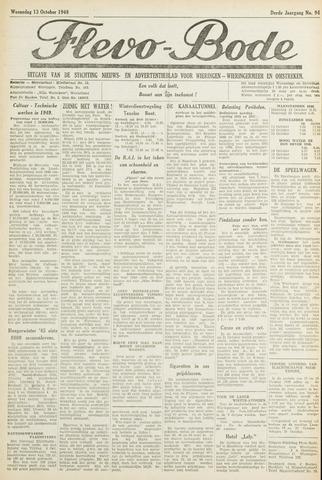 Flevo-bode: nieuwsblad voor Wieringen-Wieringermeer 1948-10-13