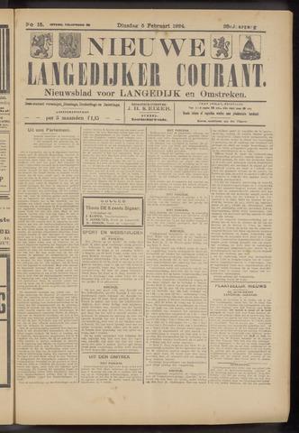 Nieuwe Langedijker Courant 1924-02-05