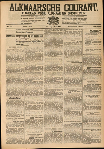 Alkmaarsche Courant 1934-06-05