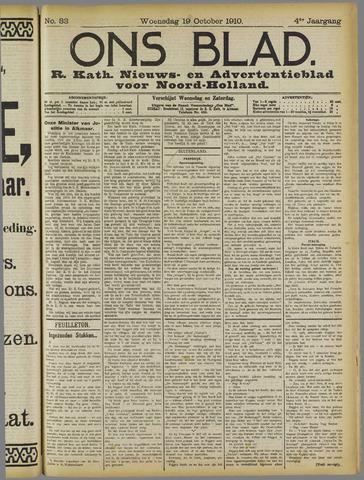 Ons Blad : katholiek nieuwsblad voor N-H 1910-10-19