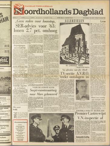 Noordhollands Dagblad : dagblad voor Alkmaar en omgeving 1962-11-02