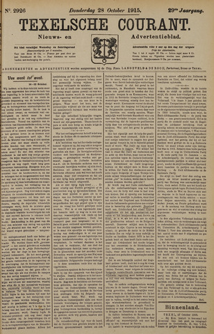 Texelsche Courant 1915-10-28