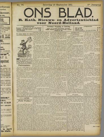 Ons Blad : katholiek nieuwsblad voor N-H 1911-09-16
