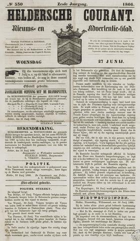 Heldersche Courant 1866-06-27