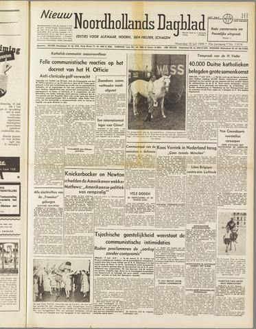 Nieuw Noordhollandsch Dagblad : voor Alkmaar en omgeving 1949-07-18