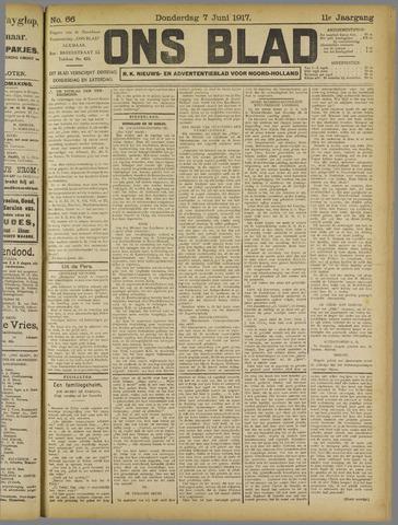 Ons Blad : katholiek nieuwsblad voor N-H 1917-06-07