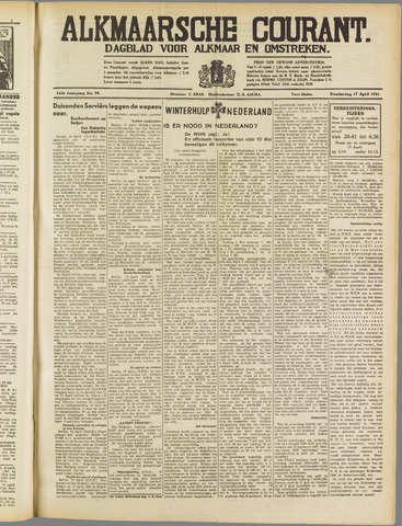 Alkmaarsche Courant 1941-04-17