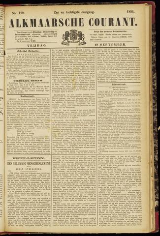 Alkmaarsche Courant 1884-09-19