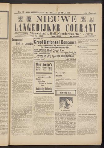 Nieuwe Langedijker Courant 1931-07-25