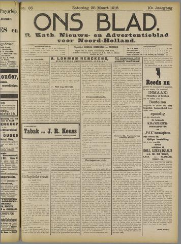 Ons Blad : katholiek nieuwsblad voor N-H 1916-03-25