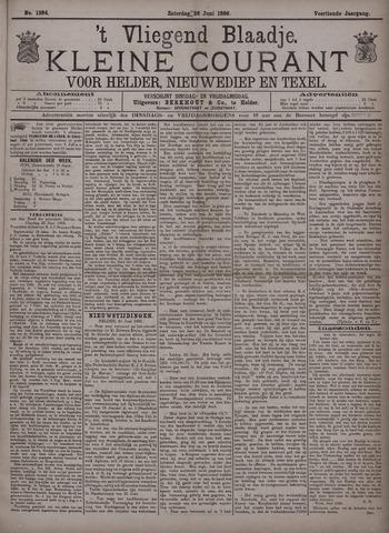 Vliegend blaadje : nieuws- en advertentiebode voor Den Helder 1886-06-26