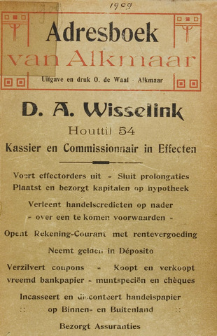 Adresboek van Alkmaar 1909-01-01