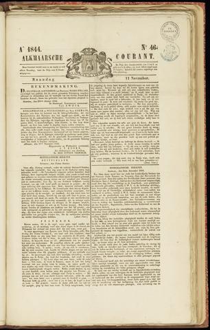 Alkmaarsche Courant 1844-11-11