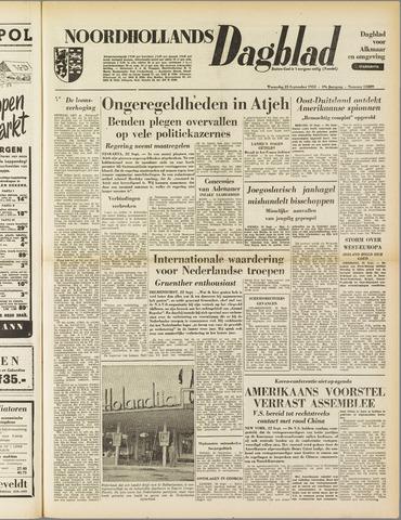 Noordhollands Dagblad : dagblad voor Alkmaar en omgeving 1953-09-23
