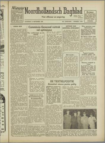 Nieuw Noordhollandsch Dagblad : voor Alkmaar en omgeving 1946-09-14