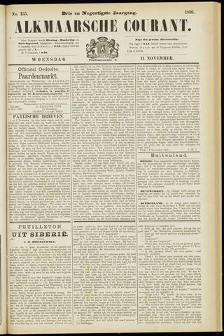 Alkmaarsche Courant 1891-11-11
